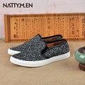 Nattymen2016 zapatos respirables de los hombres del otoño nuevo sello casual zapatos poner un pie holgazán