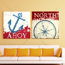 ФОТО Nautical Anchor Compass Canvas Art Print Painting Poster Wall Pictures  Living Room Home Decorative Decor No Frame