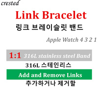 1:1 Strap For Apple Watch Link bracelet band iwatch 4/3 band 42mm 44mm 38mm 40mm Stainless steel Metal watchband Accessories