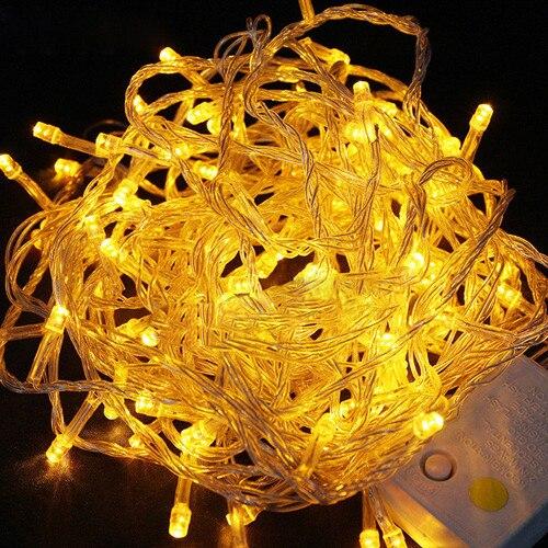 Christmas Decoration for Home Hot sale 20M 200LED Xmas Party Christmas Decor String Fairy Wedding Light Lamp 110v(Yellow) cis 57455 solar powered 50 led white xmas party wedding decor string light black 3 2v 7 5m