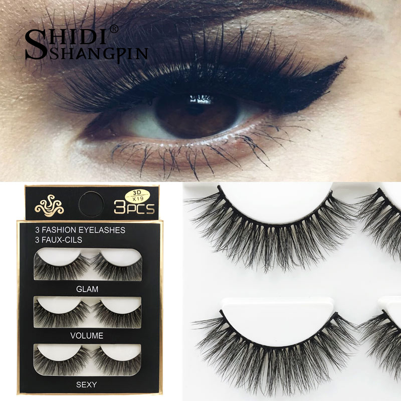 HTB1.dQxXIfrK1Rjy1Xdq6yemFXa0 SHIDISHANGPIN 3 pairs mink eyelashes natural fake eye lashes make up handmade 3d mink lashes false lash volume eyelash extension