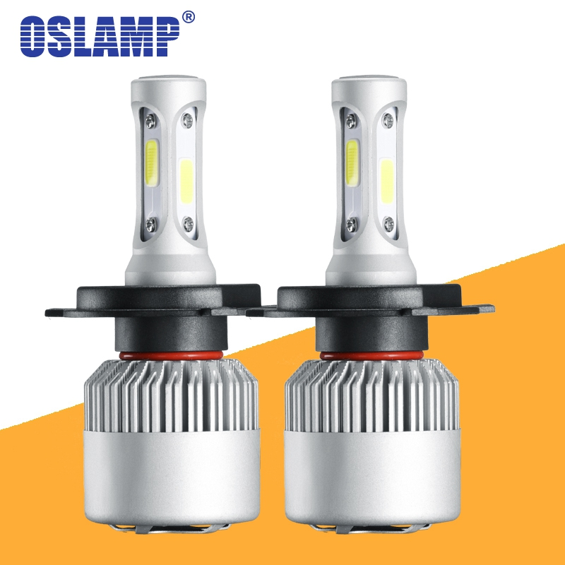 Oslamp S2 H4 H7 H13 H11 H1 9005 9006 H3 9004 9007 9012 COB LED Headlight 72W 8000LM Car LED Headlights Bulb Led 4300K 6500K 12V