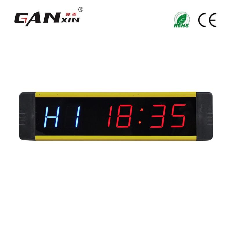 Ganxin 1 Discounted gym countdown clock LED programable training timer Tabata digital gym clock