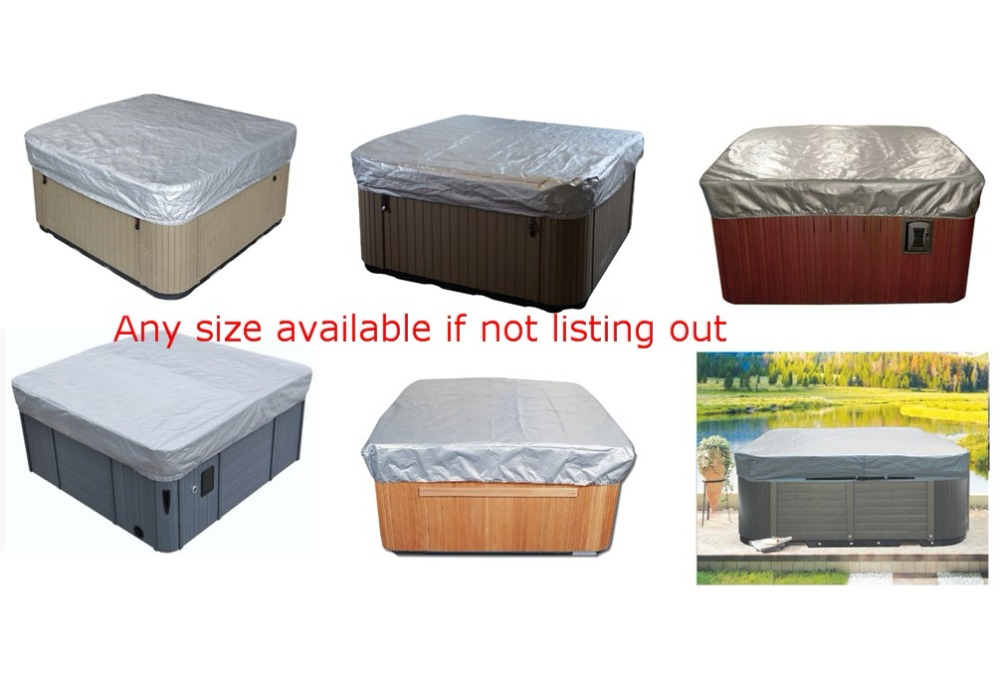 free shipping hot tub cover cap prevent snow, rain&dust, customize spa, swim spa cover bag any size available 2280mmx2280mm hot tub spa cover leather skin can do any other size