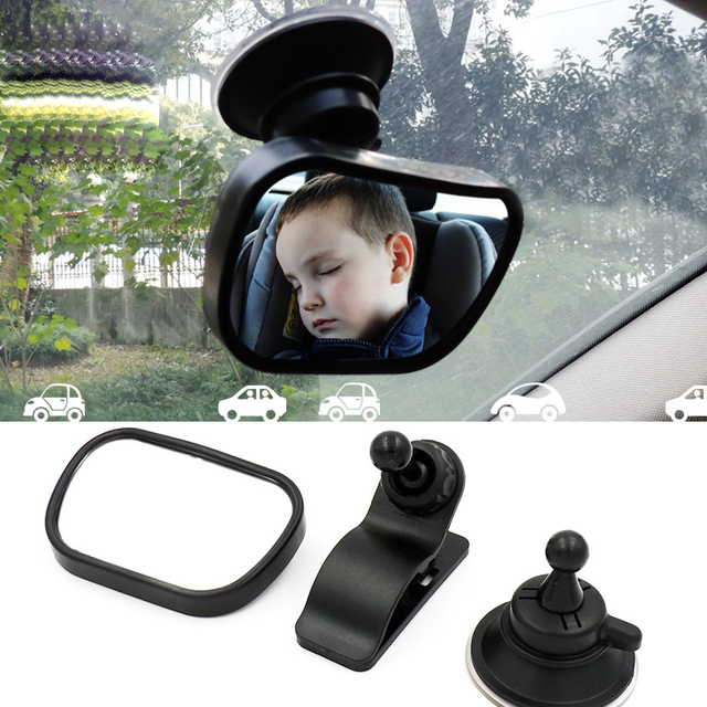 Safety Car Back Seat Baby View Mirror Suction Clip-On Adjustable Baby Rear Convex Mirror Car Baby Kids Monitor Car Accessories