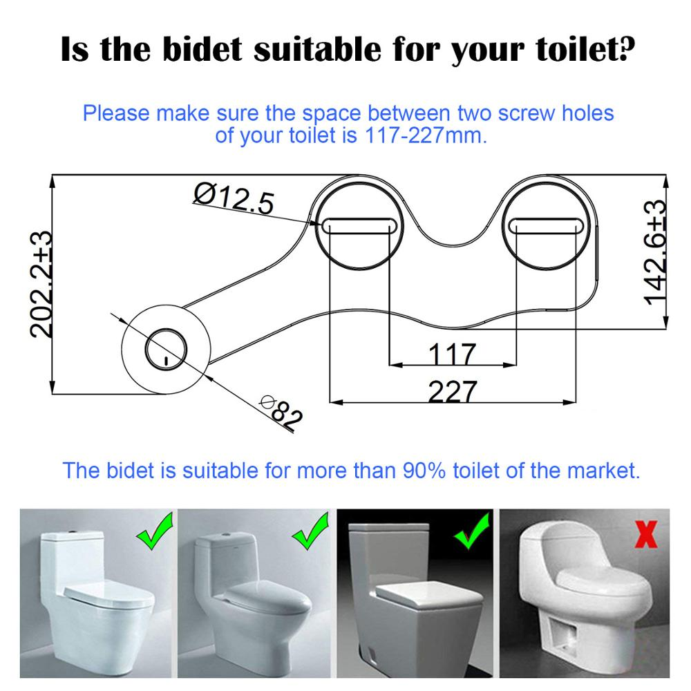 Atalawa Slim Edge Non Electric Mechanical Bidet Toilet Seat Attachment Dual Nozzle Sprayer Rear And Feminine Wash Cold Only Bidets Aliexpress