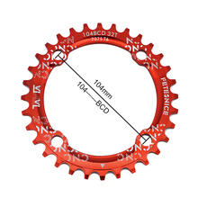 FETESNICE Round 104BCD 32T/34T/36T Cycling Chain ring Narrow Wide Ultralight 7075-T6 MTB Bike Chainwheel Circle Crankset Plate