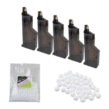 10pcs Airsoft BB Speed Loader 155 Rounds Paintball Quick Release Tactical Combat War Game Plastic BB Loaders Hunting Accessory