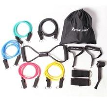 12pcs 저항 밴드 운동 도매 및 무료 배송 kylin 스포츠에 대한 피트니스 튜브 요가 운동 필라테 세트
