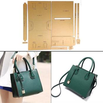 1set DIY Leather Handmade Craft women handbag Shoulder bag Sewing Pattern Hard Kraft Paper Stencil Template 22x18x10cm
