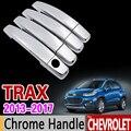 Для Chevrolet TRAX Хромированная ручка Накладка набор трекеров Holden 2013 2014 2015 2016 2017 автомобильные аксессуары наклейки для автомобиля Стайлинг