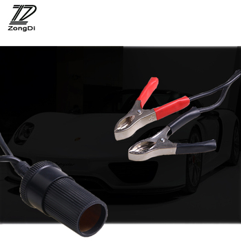 ZD 1X Car Alligator Clip Cable Battery tran to cigarette lighter interface For Suzuki swift sx4 Renault megane 2 Volvo xc90 xc60 image