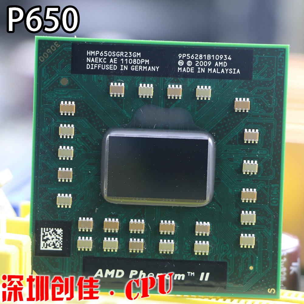 Original AMD Phenom P650 HMP650SGR23GM P650 CPU Dual core 2.60 GHz 2MB L2 Cache Socket S1 (S1g4) PGA638