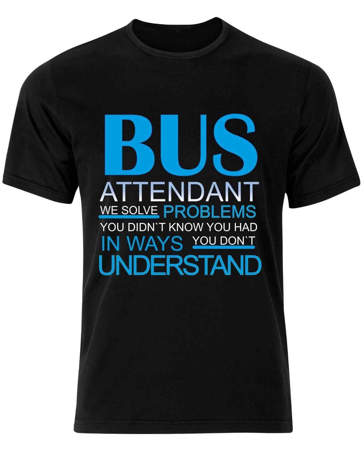 Gildan Bus Attendant рабочие проблемы Цитата Мужская футболка Топ AJ73