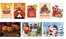 Invitation cards DIY diamond painting christmas 5D thanks giving New arrivals