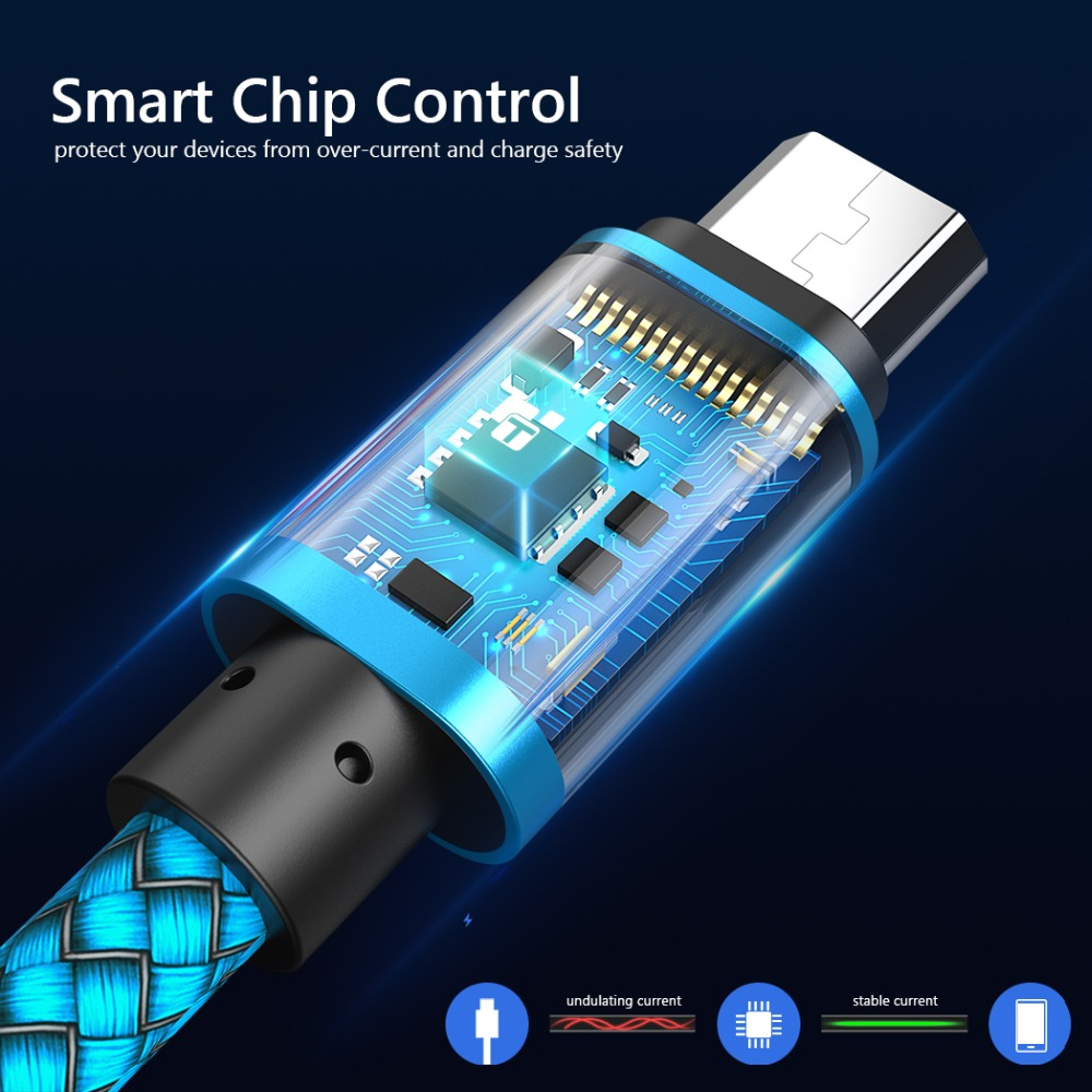Samsung Sony HTC LG Cable üçün Micro USB Cable 2A 1m sürətli - Cib telefonu aksesuarları və hissələri - Fotoqrafiya 2