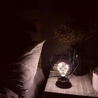 Indoor Retro LED Lamp Photograph Tool Table Light LED Desk Lamp Diamond Tall Lamp Candle Holder