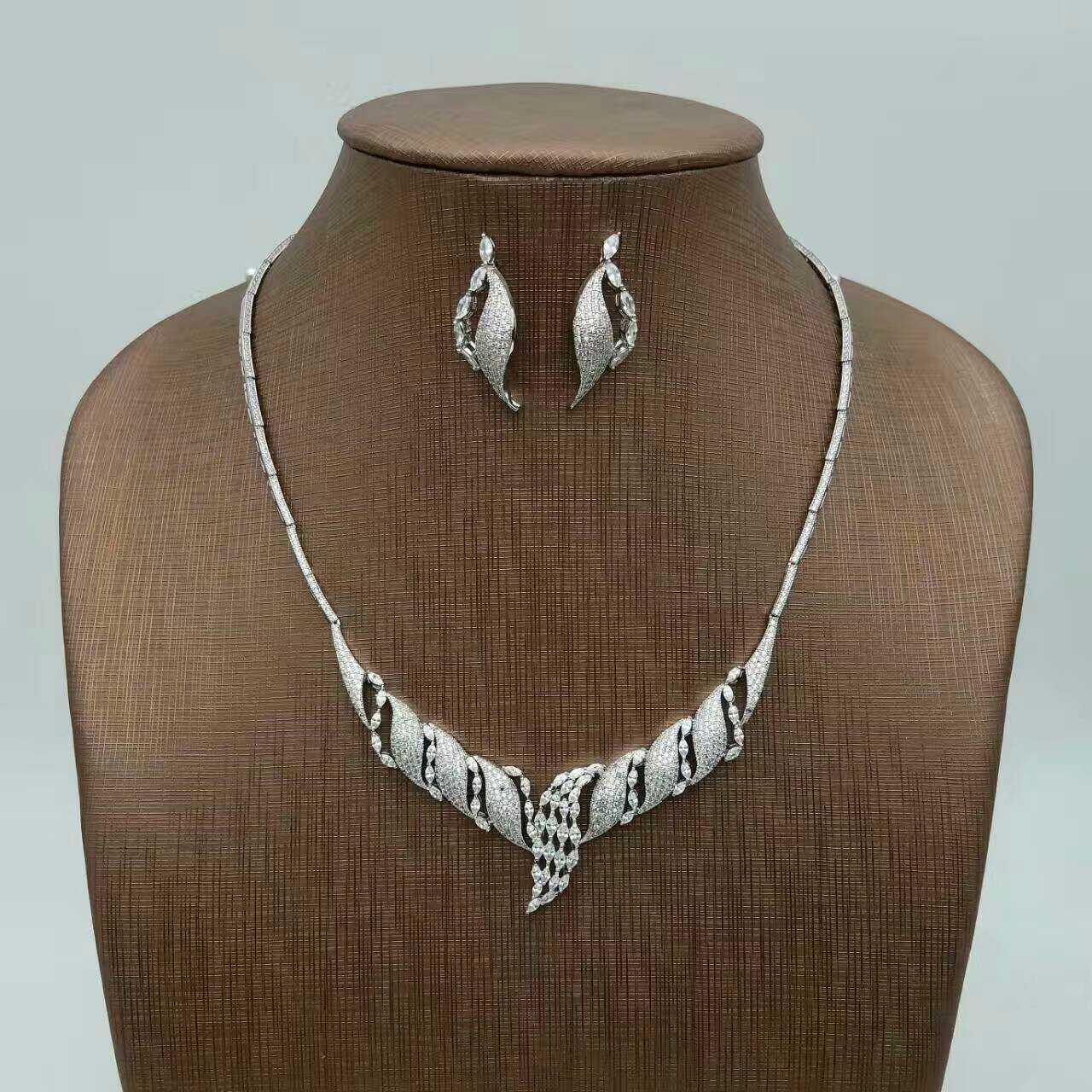 ALW fashion accessories sets necklace earrings ring bracelet set zirconium CZ stone jewelery