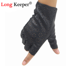 Long Keeper Hot Sales Ladies Fingerless Gloves Leather Gloves for Dance Party Show Fitness Women Breathable luvas feminina M147