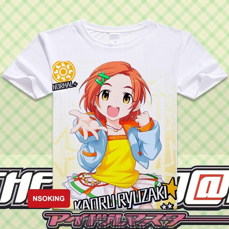 THE IDOLM @ STER T-Shirt Anime futaba anzu Cosplay T shirts Der Idolmaster Mode Männer Frauen Tops Kurzarm T-stücke