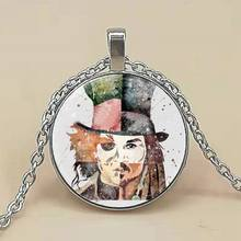 Johnny Depp Art Print Necklace Glass Photo Cabochon Necklace(China)
