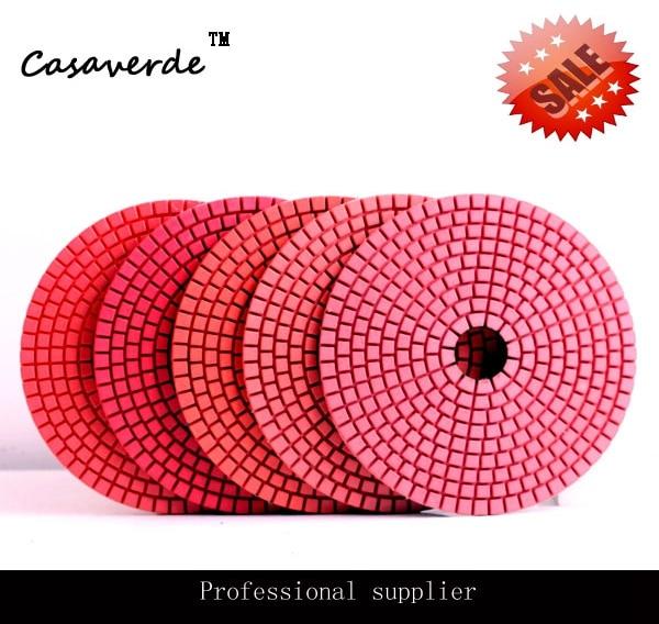 Tampons de polissage flexibles de meuleuse d'angle humide de DC-LRPP02 D125mm 5 pouces pour le granit et le marbre