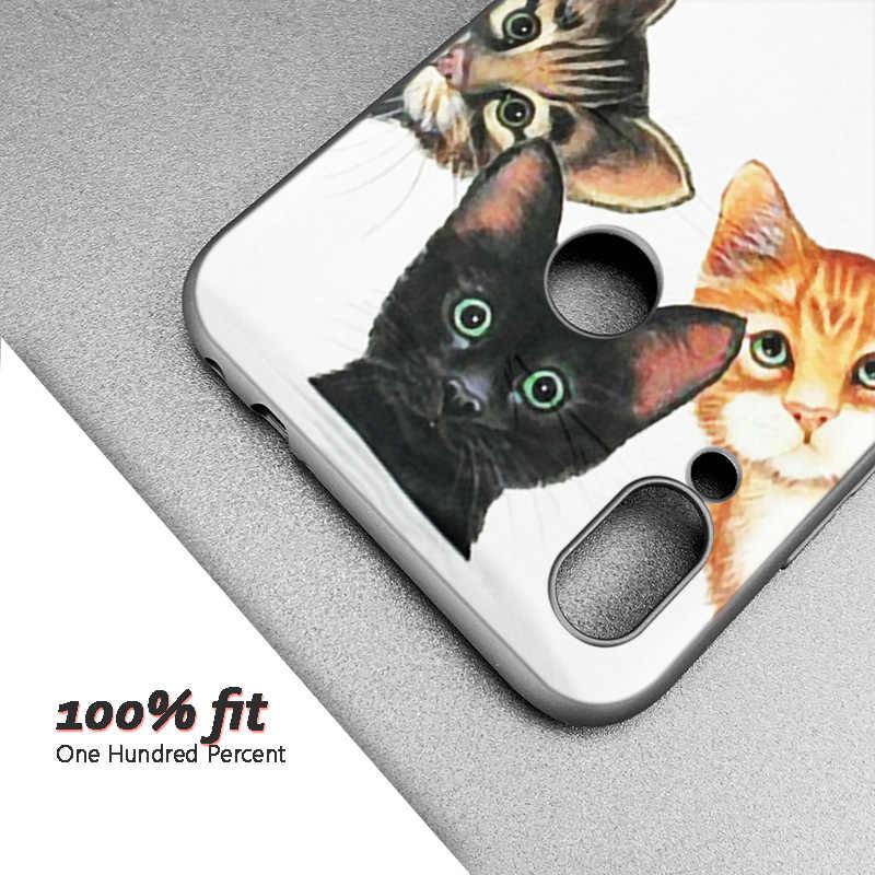 Coque Silicone pour Xiao mi rouge mi Note 7 6 5 Pro mi A1 A2 8 Lite 9 GO Poco F1 S2 4 4X Plus chat noir mignon chaton Catlin