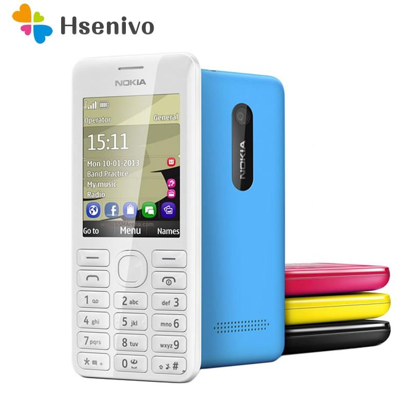 2060 Dual Sim Nokia Original 2060 206G GSM 1.3MP 2 1100 mAh Barato Desbloqueado Refurbished Telefone Celluar Remodelado