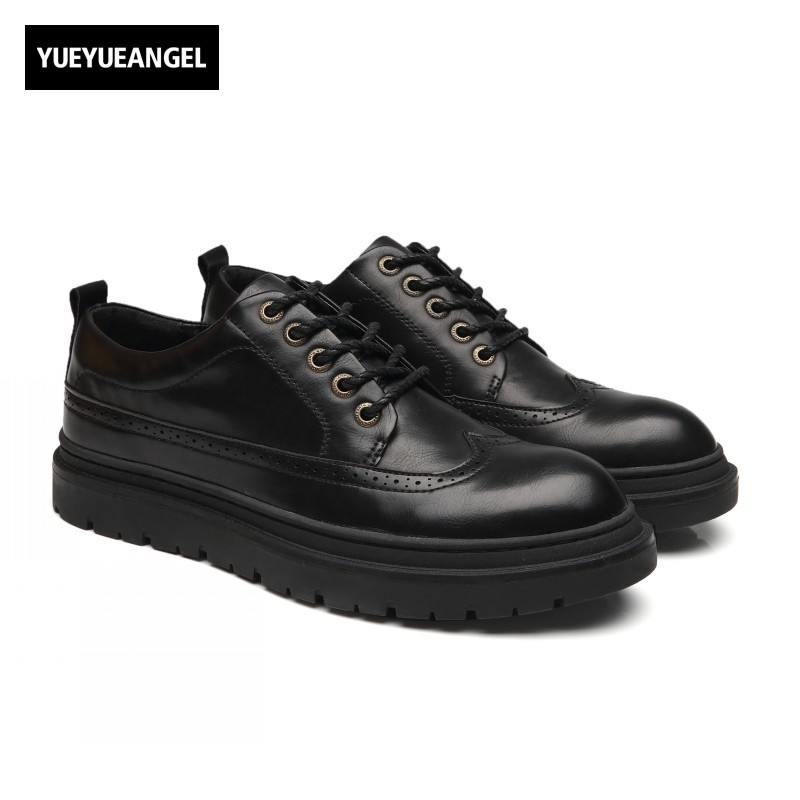 Autumn New Fashion Lace Up Round Toe Mens Casual Shoes Male Footwear Pu Leather Sapatenis Masculinos Casual Erkek Ayakkabi Black 2016 new autumn winter man casual shoes sport male leisure chaussure laced up basket shoes for adults black