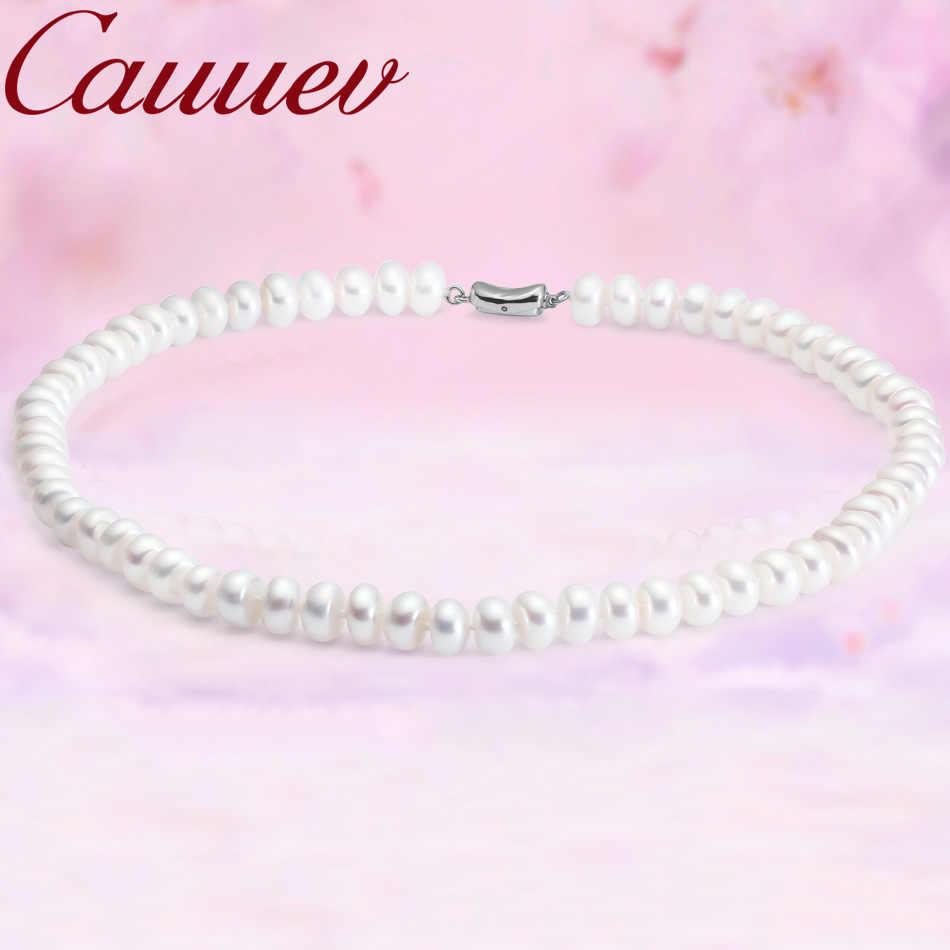 Cauuev Amazing ราคา AAAA คุณภาพน้ำจืดสร้อยคอสร้อยคอไข่มุก 3 colors8-9mm pearl เครื่องประดับจี้ของขวัญ