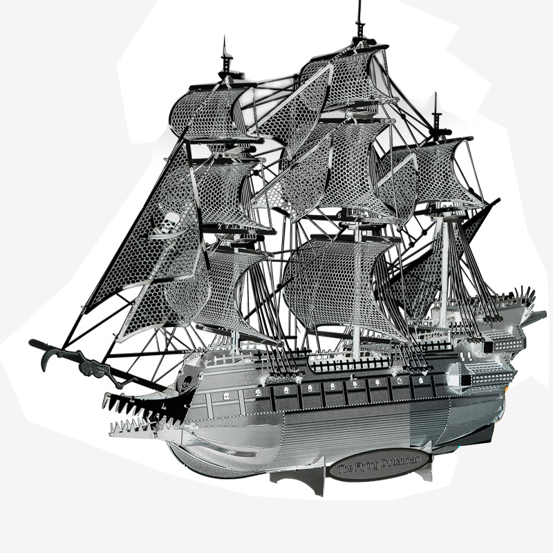 3D Metal Puzzle Assembling Flying Dutchman Ship Model Building puzzle Home Furnishing Creative gifts DIY TOYS zoyo 3d metal lamp light style metallic building puzzle educational assembling toy