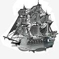 Flying Dutchman Piececool Metal 3D Rompecabezas De Montaje Modelo de Barco rompecabezas Edificio de Decoración Del Hogar regalos Creativos DIY JUGUETES
