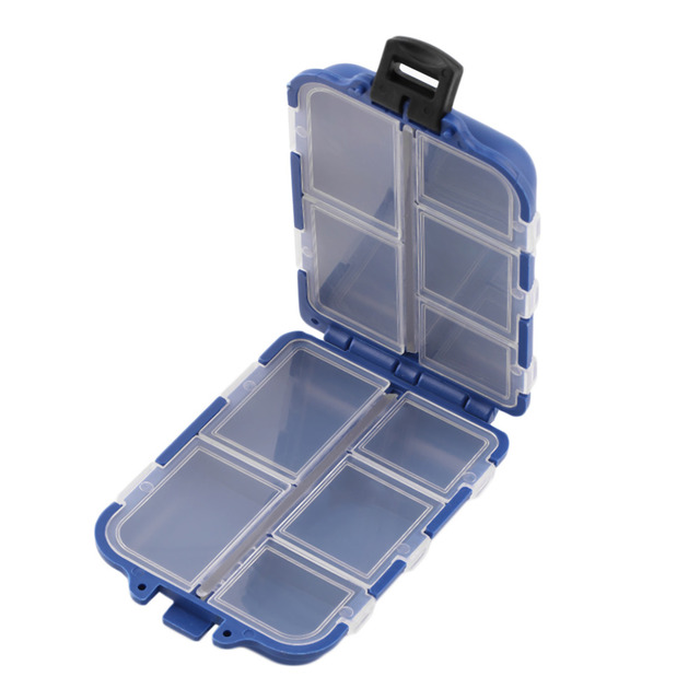 New  10 Compartments Storage Case Fly Fishing Lure Spoon Hook Bait Tackle Case Box Fishing Accessories Tools Wholesale