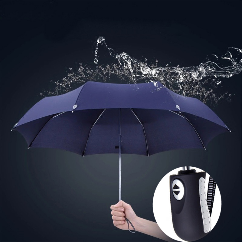 JESSE KAMM New Hot Sale Dropping Shopping Big Best Fully Automatic Reflective Travel Safe Windproof For Women Men Rain Umbrellas