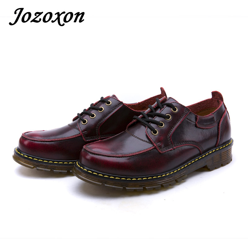 Jozoxon 17 Quality Dr Genuine Leather Shoes Men Work Boots Martin Motorcycle Autumn Winter Shoes Lover Snow Boots Free Shipping lozoga quality genuine leather shoes men boots high top martin motorcycle autumn winter shoes lover snow boots free shipping