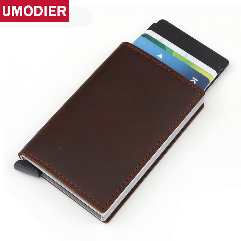 Umodier Business Card Holder Card Metal Aluminium RFID