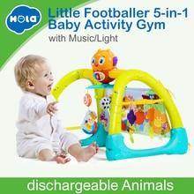 Купить с кэшбэком HUILE TOYS 2105 Baby Toys 5 in 1 Play Gym Baby Toy Play Mat & Sleeping Bear Educational Crawling Activity Mat Play Gym Carpet