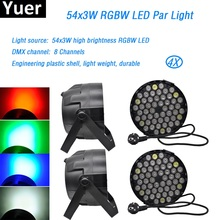 купить 4Pcs/Lot LED Par Light 54x3W RGBW High Power LED Par Wash Light 8 Channel DMX512 For Event Disco Party Show DJ light disco light по цене 10811.78 рублей