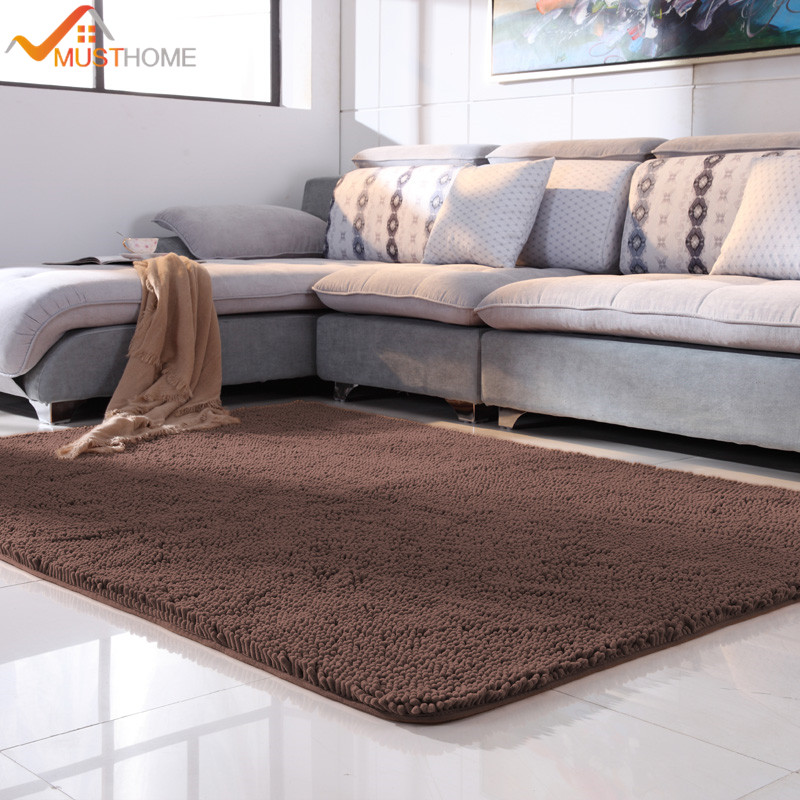 100x120cm/39x47 Microfiber Chenille Modern Rugs And Carpets For Bedroom  No Slip Backing Large Area Rug For Home