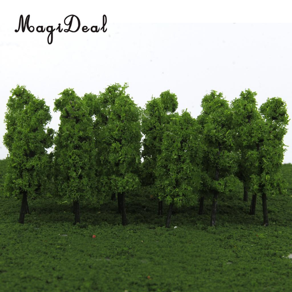 MagiDeal 20Pcs/Lot 1/200 Scale Pagoda Trees Model Train Railroad Railway Street Scenery for House Garden Park Landscape Layout