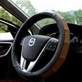 As tampas da roda de direcção do carro de couro real-r-design de acessórios do carro para volvo xc60 s60 xc90 s80 v70 xc70 v40 s40 v60 carro-styling