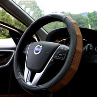 Real Leather Car Steering Wheel Covers R DESIGN Car Accessories For Volvo XC60 S60 XC90 V70