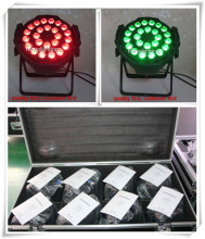 (6lot/CASE)stage lighting effect dmx led par light 24x10w led par 64 rgbw china par led flight case