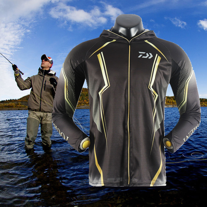 2018 High Quality Outdoor Men Sportswear Original Creative Design Fishing Jersey Moisture Wicking Unique Hooded-clothing bondi band solid moisture wicking headband