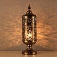Лофт бронзовая настольная лампа оригинальность Ретро освещение столовая спальня гостиная, спальня литья настольные лампы za8300
