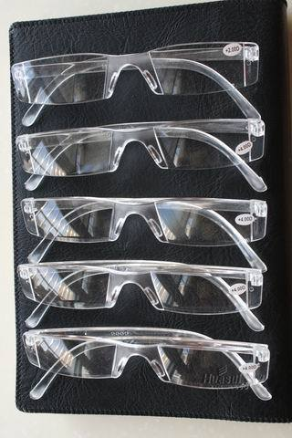 !![12 pairs]!! of Rectangular clear men women man woman rimless wholesale reading glasses+1.0 +1.5 +2.0 +2.5 +3.0 +3.5+4.0