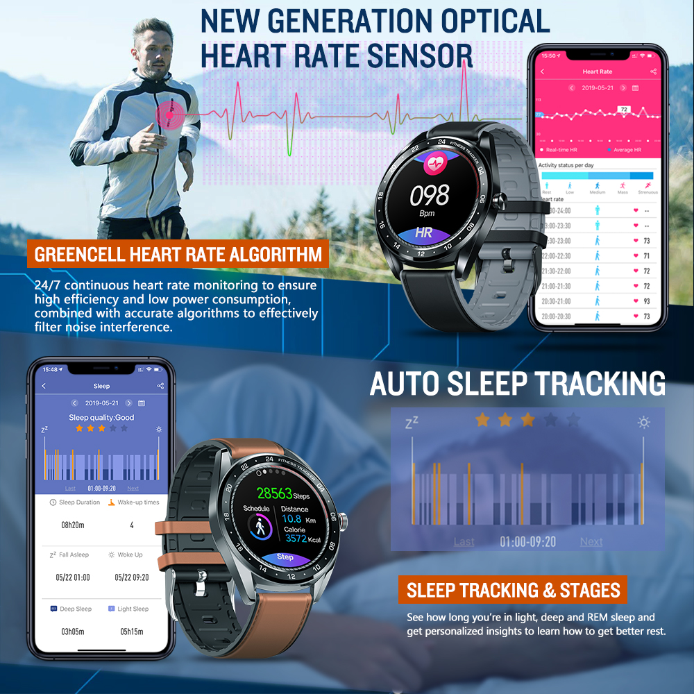 Image 5 - New Zeblaze NEO Series Color Touch Display Smartwatch Heart Rate Blood Pressure Female health CountDown Call rejection WR IP67-in Smart Watches from Consumer Electronics