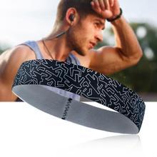 Женская Мужская спортивная повязка на голову, противоскользящий Эластичный Напульсник для йоги, бега, езды на велосипеде, головной платок на открытом воздухе, обруч для волос для спорта 0815