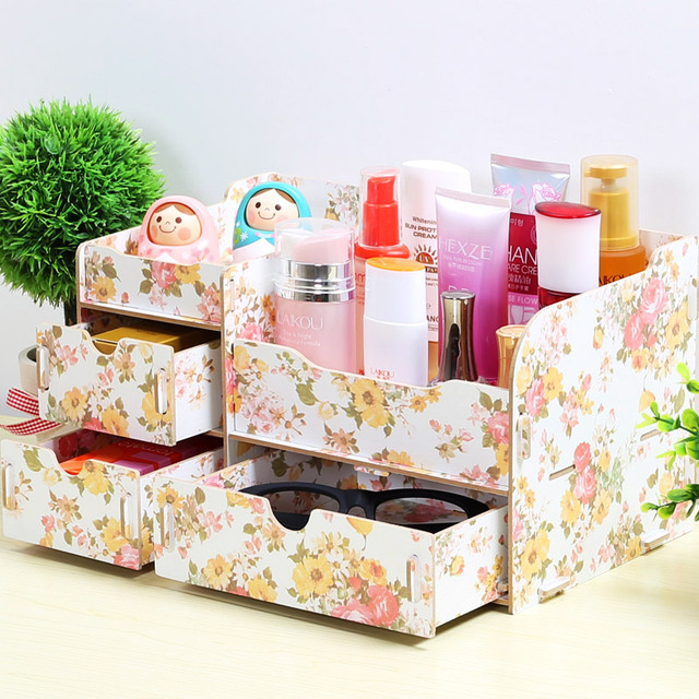 creative diy ideas wooden jewelry box drawer storage box cosmetic