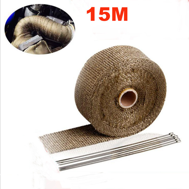 US $19 79 |15M Motorcycles Exhaust Duct Tape Anti hot Wrap Heat Downpipe  Insulation Cloth Roll Motorbike Heat Exhaust Front Pipe Wrap Cloth-in  Exhaust